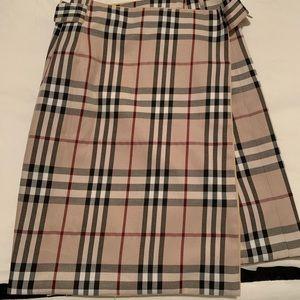 Vintage Burberry wrap skirt.